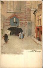 Cassiers - Anvers Belgium Street Scene L'ANCIENNE BOUCHERIE c1900 Postcard