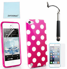 TPU Gel Silicone Polka Dot Case Cover for Apple iPod Touch 4 4th Gen Generation