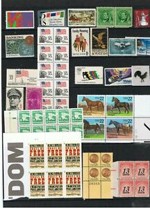 Stamps USA,  52 No. Commemoratives, Blocks and Singles, NMM