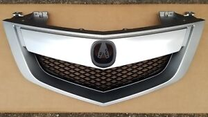 fits 2010-2013 ACURA MDX Base Technology Front Bumper SIlver Upper Grille NEW