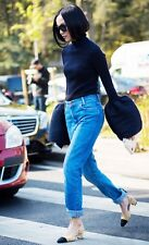 new SANDRO plegas vintage blue jeans FR 38 S NEW NWT VETEMENTS