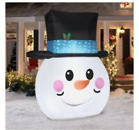 Holiday Time 8ft Flat Snowman Inflatable by Gemmy Industries