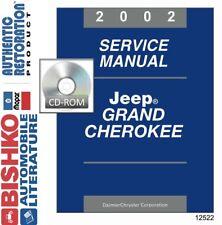 2002 Jeep Grand Cherokee Shop Service Repair Manual CD Engine Drivetrain Wiring