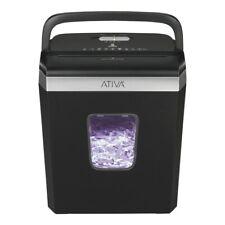Ativa 6 Sheet Cross-Cut Shredder, Black, A06CC19