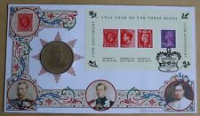 YEAR OF THE 3 KINGS M/S 2006 BENHAM FDC + VIRGIN ISLANDS 2006 $1 GEORGE V COIN
