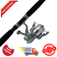 Abu Garcia Cardinal Bruiser Spinning Reel Fishing Rod Combo Saltwater Catfish 7