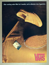 1990 Vans White Slip-on Shoes vintage print Ad