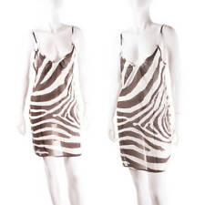 Vintage Dolce and Gabbana Sheer Zebra Print Dress