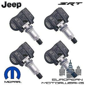 4 x black tpms sensors jeep grand cherokee 2002-2010 tyre pressure sensor