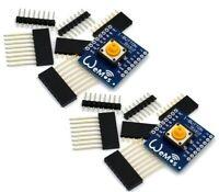 2x Wemos D1 Mini Shield IoT Wireless Button for ESP8266 WiFi WeMos Module