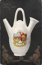 Model of Salisbury Kettle, Ilampeter, Coat of Arms, Pottery 1907