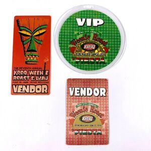 Los Angeles KROQ 1998 & 1999 Weenie Roast Concert VIP & Vendor Badges