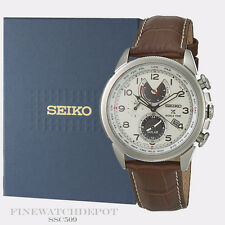 Authentic Seiko Men's Solar Prospex Chronograph Leather Strap Watch SSC509