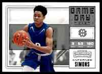 2018-19 PANINI CONTENDERS GAME DAY ANFERNEE SIMONS RC #24