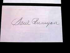 PAUL RUNYAN 1934 & 38 PGA CHAMP US OPEN GOLF SIGNED AUTO VINTAGE INDEX CARD