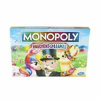 Monopoly Unicorns vs. Llamas Board Game for Ages 8 and up, Play on Team Unicorn
