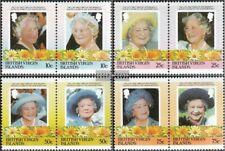 Jungferninseln 519-526 Paare (kompl.Ausg.) postfrisch 1985 Königinmutter Elisabe