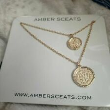 Amber Sceats Double Coin Necklace Australia NEW in package FFF