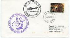 1985 Helicopter Flight Marion And Prince Edward Island Polar Antarctic Cover