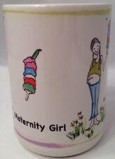 NEW Maternity Girl Mug MugWorld U.S.A. Baby Shower Mug Pregnant Cup 14 oz Rare