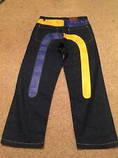New Mens 36x30 Evisu Genes Rmc Red Monkey Denim Jeans Pants Goth Urban Wear Rave