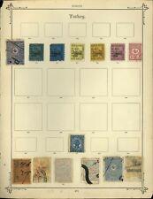 Turkey Album Page Of Stamps #V13924