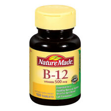 1 Bottle of Nature Made Vitamin B-12 500 Mcg, Tablets, 100-Count New