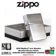 Zippo 1935 Replica Lighter, w/o Slashes, Brushed Chrome, Windproof #1935.25