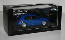 Minichamps-VW-VOLKSWAGEN-GOLF IV (4) - tipo 1j-BLU - 1:43 - Paul's Model Art-modello