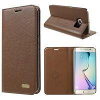 Samsung Galaxy S6/S7 Edge+Plus Phone Genuine Leather Flip Case Premium Cover New