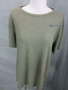 Nike Size L Mens Brown Athletic Dri-Fit Short Sleeve Soft Jersey T-Shirt T768