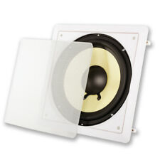 """Acoustic Audio Hds10 Flush Mount Passive Subwoofer In Wall with 10"""" Speaker"""