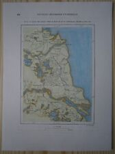 1882 Perron map REGION OF FLOWS BETWEEN YELLOW RIVER AND YANGTZE, CHINA (#73)