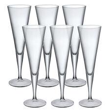 6 x Bormioli Rocco Ypsilon Champagne Tall Flutes Glassware Dinner Glasses Wine