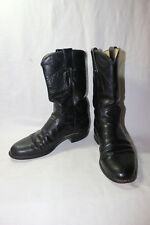 JUSTIN BLACK SMOOTH OSTRICH COWBOY WESTERN BOOTS L3735 WOMENS SIZE 6 B