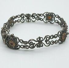 835 Silber Armband mit Granat Steine - Trachten -  5.5.20