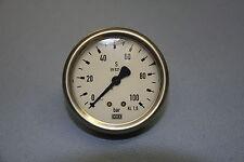"""Manometer, 100bar 1/4"""" Anschluss hinten Durchmesser 63 Wika 213.53.063"""