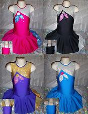 Dance Costume Leotard Cheer Twirling Tap Skating Dress Razzledazzle MADE IN UK