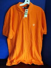 Ralph Lauren CHAPS~Orange  POLO GOLF SHIRT~Men's Large~NWT~100% Cotton