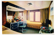 1950's postcard- Interior Cabin View, S.S. Emerald Seas, Eastern Steamship Lines
