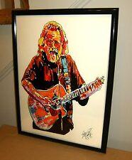 Jerry Garcia, Grateful Dead, Singer, Vocals, Lead Guitar, 18x24 POSTER w/COA