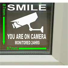 6 X sonrisa que están en cctv-camera advertencia de seguridad interior ventana Stickers, Signo