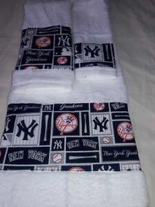 New York Yankees  MLB 3 Piece Bath Towel Set Handmade Great Gift!!