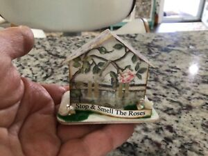 Tim Holtz Paper Village House  TINY CHRISTMAS ORNAMENT DECOR OOAK Handcrafted #5