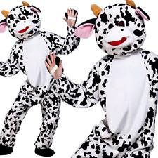 Adult Cute Cow Mascot Costume Unisex Farm Animal Fancy Dress Outfit