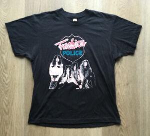 VINTAGE 1992 THE FASHION POLICE U.S. TOUR ROCK CONCERT MEN'S SIZE LARGE T-SHIRT!