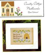 """BEE VIRTUES"" -    Cross Stitch Pattern - Country Cottage Needleworks"