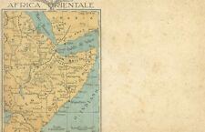 Cartolina Postale per le Forze Armate Africa Orientale Intonsa 1935