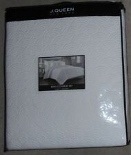 J. Queen New York Orlando Quilted White King Coverlet Set Nwt