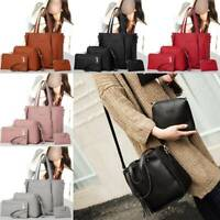 4pcs/ Women Ladies Leather Handbag Shoulder Tote Purse Satchel Messenger Bag